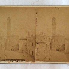 Fotografía antigua: FOTO ESTEREOSCOPICA ALBUMINA. JEAN LAURENT. 1676 IGLESIA DE LA MAGDALENA. ZARAGOZA.. Lote 97633515