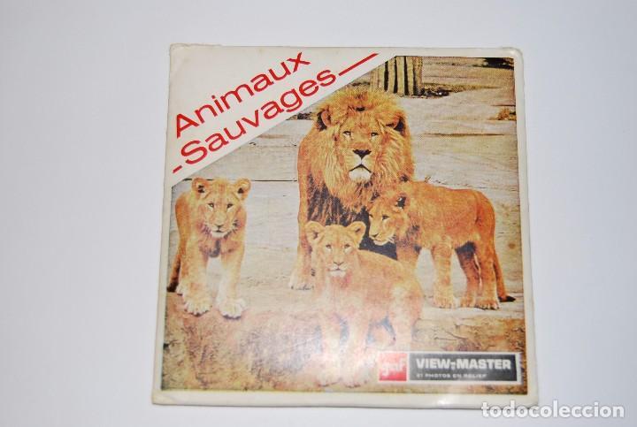 VIEW MASTER VIEWMASTER ANIMAUX SAUVAGES ANIMALES SALVAJES (Fotografía Antigua - Estereoscópicas)