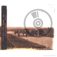 Fotografía antigua: CARAVANA EN SIBERIA - RUSIA - CRISTAL ESTEREOSCÓPICO - FOTOGRAFÍA ÚNICA - AÑOS 10/20. Lote 98381011