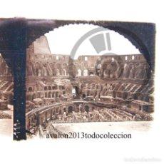 Fotografía antigua: EL COLISEO - ROMA - CRISTAL ESTEREOSCÓPICO - FOTOGRAFÍA ÚNICA - AÑOS 10/20. Lote 98383827