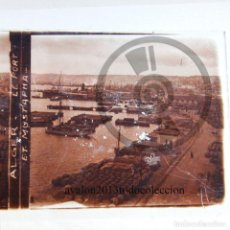 Fotografía antigua: ARGEL - EL PUERTO - CRISTAL ESTEREOSCÓPICO - FOTOGRAFÍA ÚNICA - AÑOS 10/20. Lote 98384947