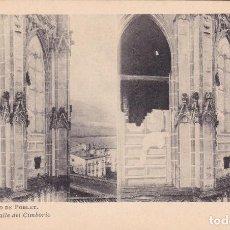 Fotografía antigua: MONASTERIO DE POBLET Nº 10 DETALLE DEL CIMBORIO ESTEROSCOPIA - EDIC FOTOTIPIA THOMAS . Lote 98472143