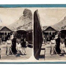 Fotografía antigua: ANTIGUA FOTOGRAFÍA ESTEREOSCÓPICA - CASA DE BAÑOS ALCOY ALICANTE - FOTOGRAFO E. JORDÁ BLANES . Lote 98807543