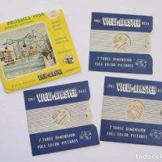 Fotografía antigua: VIEW-MASTER BRUSSELS 1958 VIEW MASTER BRUSELAS 21 IMAGENES 3D. Lote 99749651