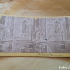 Fotografía antigua: BARCELONA CLAUSTRO CATEDRAL E.H. PARIS S. XIX. Lote 100051019