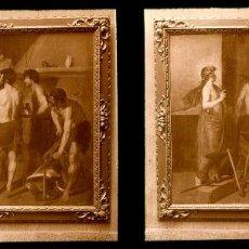 Fotografía antigua: MUSEO DEL PADRO - VELAZQUEZ - LA FRAGUA DE VULCANO - 1920 - POSITIVO DE VIDRIO. Lote 101151047