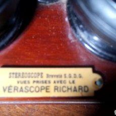 Fotografía antigua: VISOR DE CRISTALES FOTOGRÁFICOS ESTEREOSCOPICOS CON 32 PLACAS VARIADAS EN DISTINTOS ESTADOS. Lote 101273824