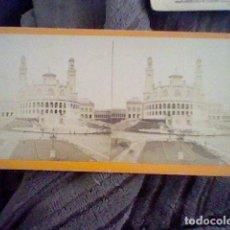 Fotografía antigua: FOTOGRAFIA ESTEREOSCOPICA TROCADERO PARIS. Lote 102026243