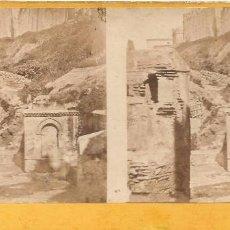 Fotografía antigua: ANTIGUA FOTOGRAFIA ESTEROSCOPICA ARGEL FUENTE PHOTO FONTAIN ALGER. Lote 103715151
