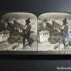 Fotografía antigua: GRANADA VISTA DE LA ALHAMBRA Y LA CIUDAD VISTA ESTEREOSCOPICA H. C. WHITE 1908 . Lote 103874675