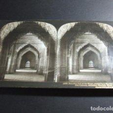 Fotografía antigua: GRANADA ALHAMBRA SALON DE LOS REYES VISTA ESTEREOSCOPICA H. C. WHITE 1908 . Lote 103874915
