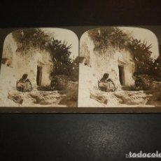 Fotografía antigua: GRANADA CUEVAS DE GITANOS VISTA ESTEREOSCOPICA 1901 H. C. WHITE EDITOR. Lote 103875379