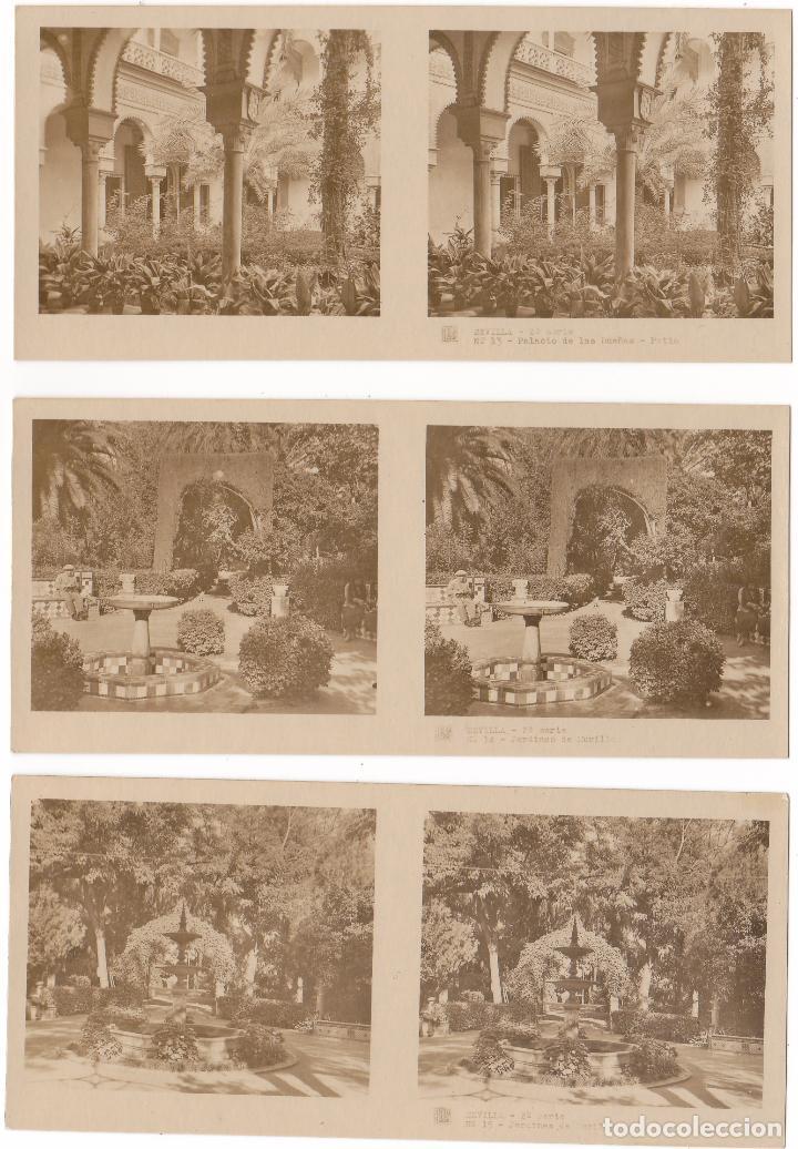 Fotografía antigua: LOTE 15 FOTOGRAFIA ESTEREOSCOPICA SEVILLA TURISMO PRACTICO 2ª SERIE COMPLETA - Foto 3 - 106598151