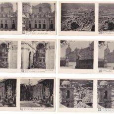 Fotografía antigua: LOTE 15 FOTOGRAFIA ESTEREOSCOPICA ESCORIAL TURISMO PRACTICO 1ª SERIE COMPLETA. Lote 106610371