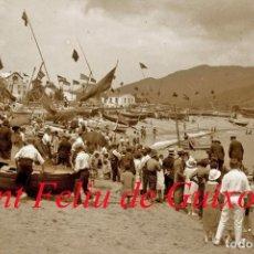 Fotografía antigua: SANT FELIU DE GUIXOLS - FESTA 1920'S - NEGATIU DE VIDRE . Lote 108392863