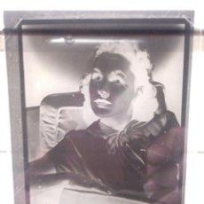 Fotografía antigua: ANTIGUA ESTEREOSCOPIA EN CRISTAL - FOTOGRAFIA ACTRIZ AÑOS 30 MAUREEN O'SULLIVAN - HOLLYWOOD SULLIVAN. Lote 108431735