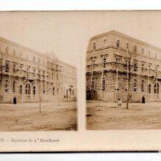 Fotografía antigua: ESTEREOSCÓPICA CASTELLÓN - INSTITUTO DE 2º ENSEÑANZA. Lote 108914955