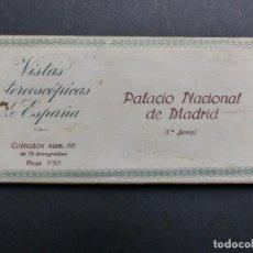 Fotografía antigua: MADRID - VISTAS ESTEREOSCOPICAS DE ESPAÑA - 1ª SERIE, COLECCION Nº 66 - 15 VISTAS STEREO RELLEV. Lote 111262627