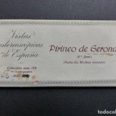 Fotografía antigua: PIRINEO GERONA NURIA - VISTAS ESTEREOSCOPICAS DE ESPAÑA - COLECCION Nº 124 - 15 VISTAS STEREO RELLEV. Lote 111265371