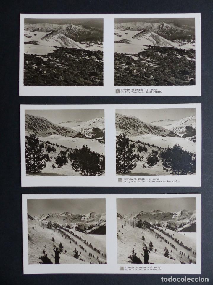 Fotografía antigua: PIRINEO GERONA NURIA - VISTAS ESTEREOSCOPICAS DE ESPAÑA - COLECCION Nº 124 - 15 VISTAS STEREO RELLEV - Foto 3 - 111265371