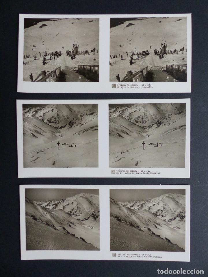 Fotografía antigua: PIRINEO GERONA NURIA - VISTAS ESTEREOSCOPICAS DE ESPAÑA - COLECCION Nº 124 - 15 VISTAS STEREO RELLEV - Foto 4 - 111265371