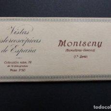 Fotografía antigua: MONTSENY, BARCELONA - VISTAS ESTEREOSCOPICAS DE ESPAÑA - COLECCION Nº 19 - 15 VISTAS STEREO RELLEV. Lote 111266139