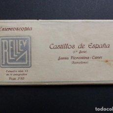 Fotografía antigua: CANET, BARCELONA - VISTAS ESTEREOSCOPICAS DE ESPAÑA - COLECCION Nº 43 - 15 VISTAS STEREO RELLEV. Lote 111267011