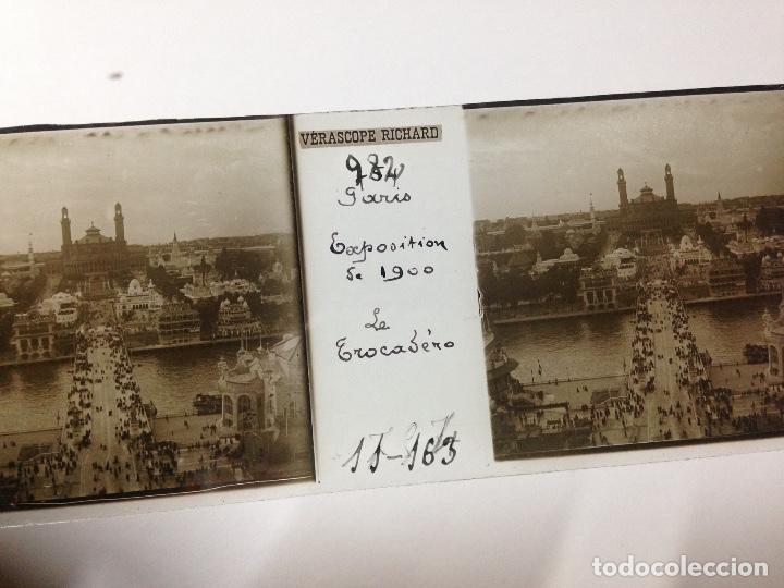ANTIGUA FOTOGRAFIA CRISTAL TROCADERO EXPOSICION PARÍS 1900 (Fotografía Antigua - Estereoscópicas)