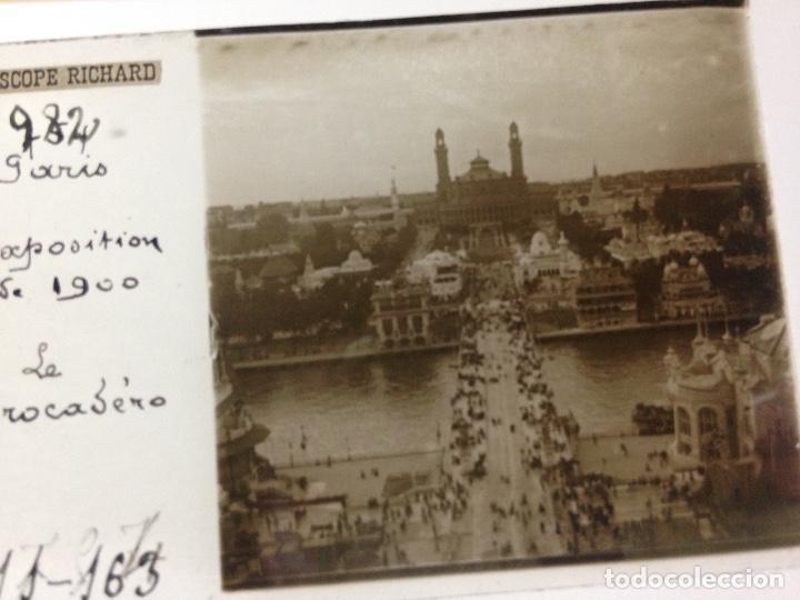Fotografía antigua: ANTIGUA FOTOGRAFIA CRISTAL TROCADERO EXPOSICION PARÍS 1900 - Foto 2 - 111996163
