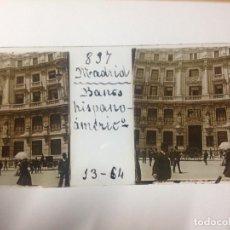 Fotografía antigua: ANTIGUA FOTOGRAFIA CRISTAL MADRID BANCO HISPANO AMERICANO. Lote 112343719