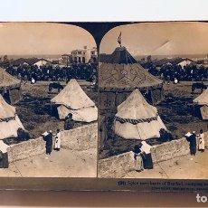 Fotografía antigua: FOTOGRAFÍA ESTEREOSCOPICA AMERICAN STEREOSCOPIC COMPANY.CARE.PALESTINA. Lote 113885496