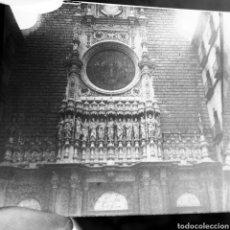 Old photograph - Placa estereoscopica original en negativo 1890-1900 Fachada Monasterio Montserrat - 114790526