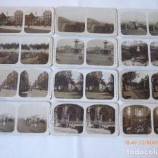 Fotografía antigua: MALAGA 12 ESTEREOSCOPICAS VISTAS CIUDAD, NUEVAS,. Lote 114875487