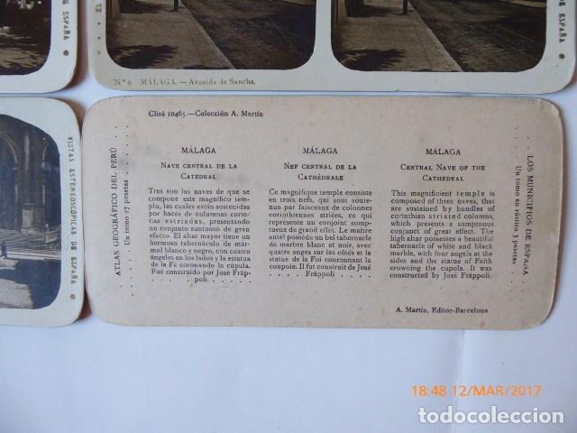 Fotografía antigua: malaga 12 estereoscopicas vistas ciudad, nuevas, - Foto 2 - 114875487