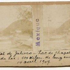 Fotografía antigua: MÉXICO, ESTADO DE JALISCO, LAGO DE CHAPALA, 14/04/1907, INGENIERO DE MINAS L. LEGRAND . Lote 115203239