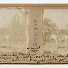 Fotografía antigua: MÉXICO, TEPIC, ESTADO DE NAYARIT, AMATLAN DE CAÑAS, 4/04/1907, INGENIERO DE MINAS L. LEGRAND. Lote 115204227