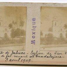 Fotografía antigua: MÉXICO, ESTADO DE JALISCO, IGLESIA DE SAN MARCOS. 3/04/1907, INGENIERO DE MINAS L. LEGRAND . Lote 115215387