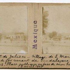 Fotografía antigua: MÉXICO, ESTADO DE JALISCO, PUEBLO DE SAN MARCOS. 3/04/1907, INGENIERO DE MINAS L. LEGRAND . Lote 115216231