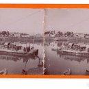 Fotografía antigua: TORTOSA (TARRAGONA) PUENTES DE BARCAS SOBRE EL EBRO.. Lote 115593807