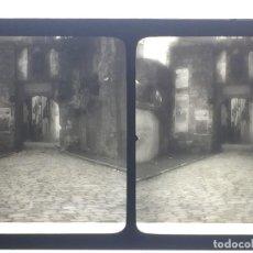 Fotografía antigua: FOTOGRAFIA ESTEREOSCOPICA VIDRIO VISTA FUENTERRABIA PAIS VASCO S XIX PPIO S XX 8,5X17CMS. Lote 116374835