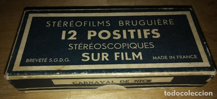 Fotografía antigua: Carnaval de Niza. 12 positivos estereoscópicos sobre film en su caja original. Fotos Estereoscópicas - Foto 3 - 117384271