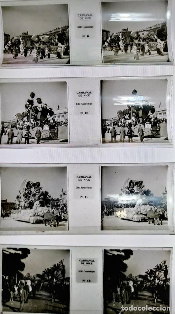 Fotografía antigua: Carnaval de Niza. 12 positivos estereoscópicos sobre film en su caja original. Fotos Estereoscópicas - Foto 4 - 117384271