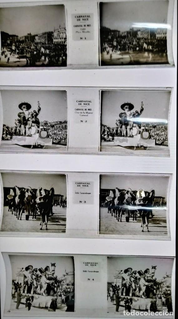 Fotografía antigua: Carnaval de Niza. 12 positivos estereoscópicos sobre film en su caja original. Fotos Estereoscópicas - Foto 5 - 117384271