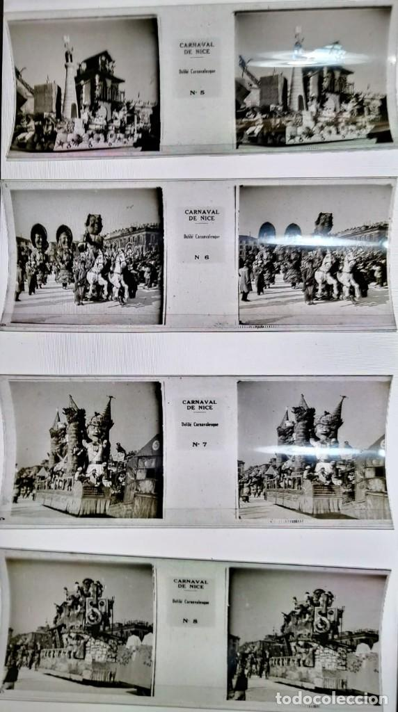 Fotografía antigua: Carnaval de Niza. 12 positivos estereoscópicos sobre film en su caja original. Fotos Estereoscópicas - Foto 6 - 117384271