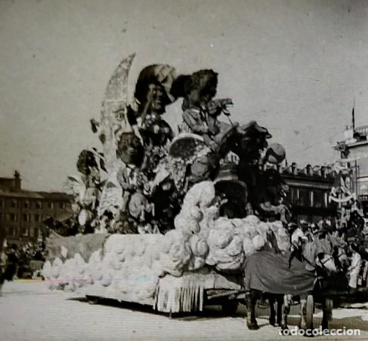 CARNAVAL DE NIZA. 12 POSITIVOS ESTEREOSCÓPICOS SOBRE FILM EN SU CAJA ORIGINAL. FOTOS ESTEREOSCÓPICAS (Fotografía Antigua - Estereoscópicas)
