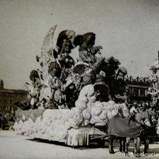 Fotografía antigua: CARNAVAL DE NIZA. 12 POSITIVOS ESTEREOSCÓPICOS SOBRE FILM EN SU CAJA ORIGINAL. FOTOS ESTEREOSCÓPICAS. Lote 117384271