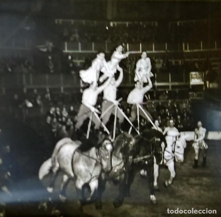 Fotografía antigua: LE CIRQUE BOUGLIONE 10 positivos estereoscópicos sobre film en caja original - circo - payasos - Foto 4 - 117385931