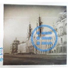 Fotografía antigua: PORTUGAL - MAFRA - PALACIO NACIONAL DE MAFRA - CRISTAL ESTEREOSCÓPICO - FOTOGRAFÍA ÚNICA. Lote 117542571