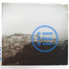 Fotografía antigua: PORTUGAL - LISBOA - VISTA GENERAL Y CASTILLO DE SAN JORGE - CRISTAL ESTEREOSCÓPICO - FOTOGRAFÍA ÚNIC. Lote 117542991