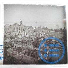 Fotografía antigua: PORTUGAL - LISBOA - VISTA GENERAL - CRISTAL ESTEREOSCÓPICO - FOTOGRAFÍA ÚNICA. Lote 117543187